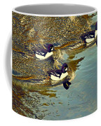 Barrow's Goldeneyes Going For The Gold Coffee Mug