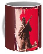 Barry Sadler Machine Gun Authentic Ww2 Africa Korps Hat Camouflage Clothes Collage Tucson 1971-2012 Coffee Mug