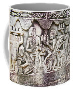 Bas-reliefs Of Khmer Daily Activities In The Bayon In Angkor Thom-cambodia  Coffee Mug
