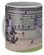 Baseball Batter Contact Digital Art Coffee Mug