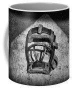 Baseball Catchers Mask Vintage In Black And White Coffee Mug