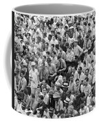 Baseball Fans In The Bleachers At Yankee Stadium. Coffee Mug by Underwood Archives