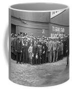 Baseball Fans Waiting In Line To Buy World Series Tickets. Coffee Mug