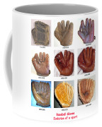 Baseball Glove Evolution Coffee Mug