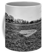 Baseball - Home Plate - Black And White Coffee Mug by Paul Ward
