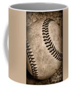 Baseball Old And Worn Coffee Mug by Paul Ward