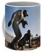 Baseball Statue At Citizens Bank Park Coffee Mug by Bill Cannon