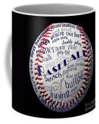 Baseball Terms Typography 1 Coffee Mug