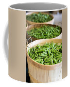 Baskets Of Fresh Picked Peas Coffee Mug by Edward Fielding