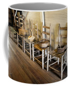 Baskets On Ladder Back Chairs Coffee Mug by Lynn Palmer