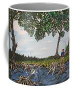 Bass Fishing In The Stumps Coffee Mug