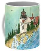 Bass Harbor Lighthouse Me Nautical Chart Map Art Cathy Peek Coffee Mug
