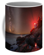 Bass Harbor Lighthouse Milky Way Coffee Mug