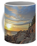 Bass Harbor Lighthouse Sunset Landscape Coffee Mug