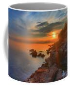 Bass Harbor Sunset Coffee Mug