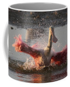 Bath Time - Roseate Spoonbill Coffee Mug