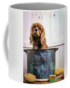 Bath Time - King Charles Spaniel Coffee Mug by Edward Fielding