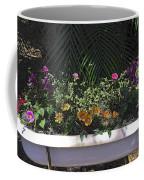 Bath Tub Flowers Coffee Mug