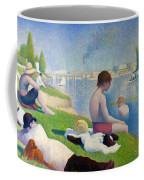 Bathers In Asnieres Coffee Mug