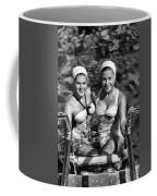 Bathing Beauties Black And White Coffee Mug