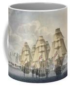 Battle Of Trafalgar Coffee Mug by Robert Dodd