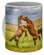 Battling Stallions Coffee Mug