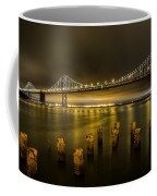 Bay Bridge And Clouds At Night Coffee Mug