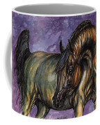 Bay Horse On The Purple Background Coffee Mug