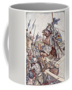 Bayard Defends The Bridge, Illustration Coffee Mug