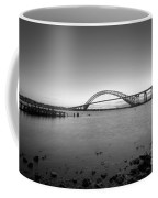 Bayonne Bridge Long Exposure Bw Coffee Mug