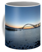 Bayonne Bridge Longe Exposure Sunset Coffee Mug