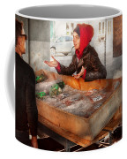 Bazaar - I Sell Fish  Coffee Mug by Mike Savad