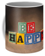 Be Happy - Jabberblocks Coffee Mug