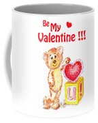 Be My Valentine Teddy Bear Coffee Mug