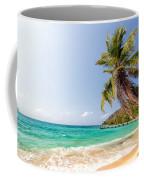 Beach And Palm Tree Coffee Mug