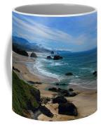 Beach At Ecola State Park Coffee Mug