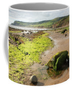 Beach At Robin Hoods Bay Coffee Mug by Deborah Benbrook