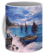 Beach At Sainte Adresse Monet Coffee Mug