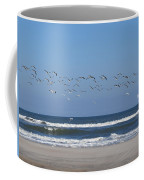 Beach Birds In Flight Coffee Mug