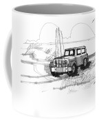 Beach Buggy Ocracoke 1970s Coffee Mug