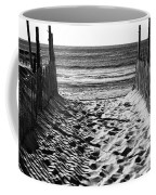 Beach Entry Black And White Coffee Mug