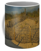 Beach Fence Coffee Mug by Susan Candelario