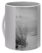 Beach Grass In The Snow Coffee Mug
