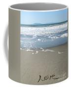 Beach Love Coffee Mug by Linda Woods