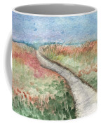Beach Path Coffee Mug by Linda Woods