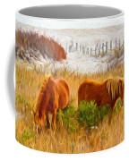 Beach Ponies Coffee Mug