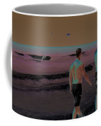 Beach Solar Series Xi Woman Swimming Usa Coffee Mug
