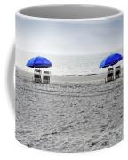 Beach Umbrellas On A Cloudy Day Coffee Mug