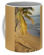 Beach Under Golden Palm Coffee Mug