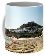 Beach View Of Lindos Coffee Mug